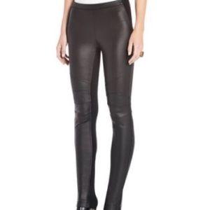 BcbgMaxazria Faux Leather Moto Leggings Size XS